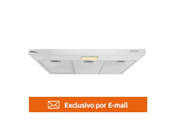 Depurador de Parede Branco Philco Slim PDR90B 90cm 3 Velocidades 110V
