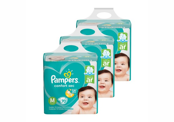 Kit de Fraldas Pampers Confort Sec Super