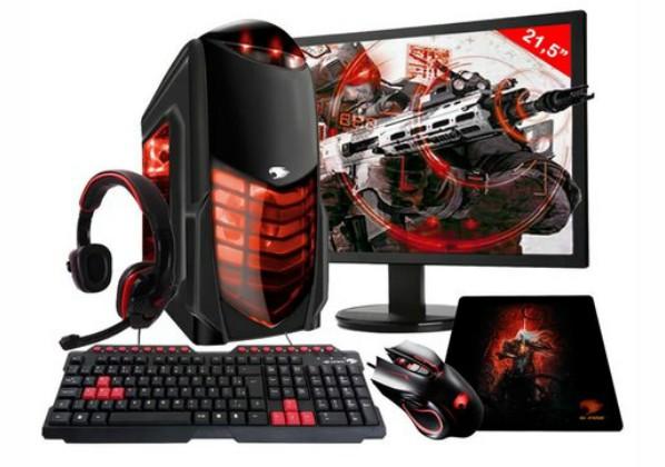 PC G-FIRE AMD A8 9600 8GB 1TB monitor 21,5 Radeon R7