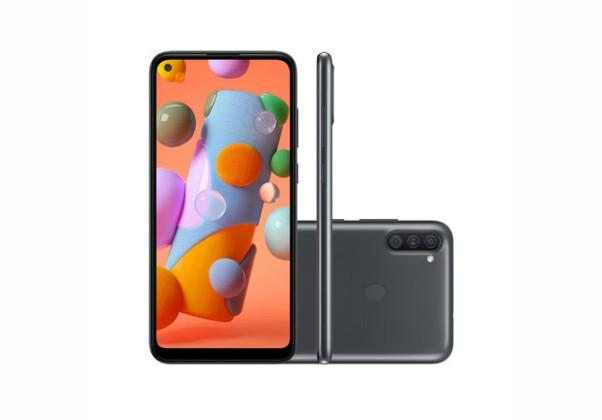 Smartphone Samsung Galaxy A11 64GB Preto 4G Tela 6.4 Pol.