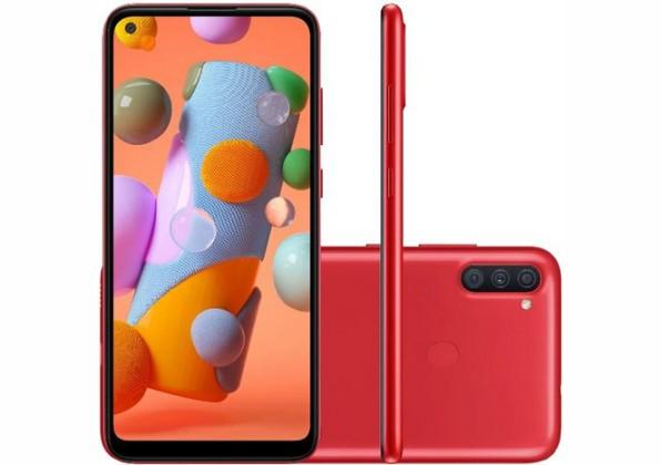Celular Samsung Galaxy A11 Vermelho 64GB Tela 6.4