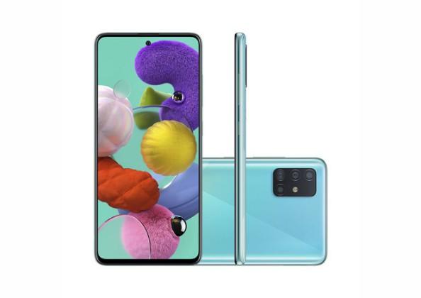 Smartphone Samsung Galaxy A51 128GB Azul 4G Tela 6.5 Pol.