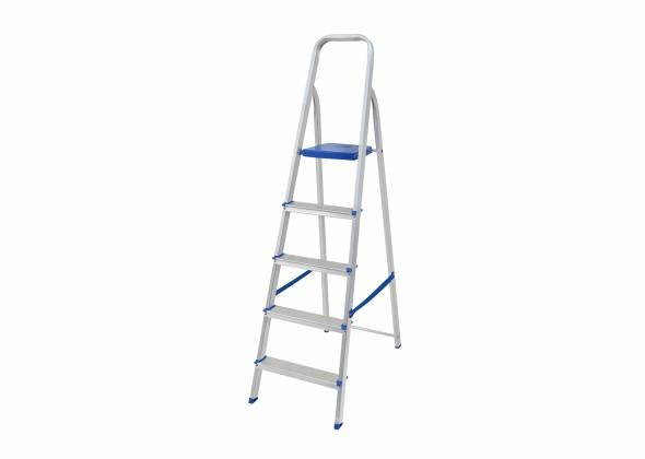 Escada Dobrável em Alumínio  5 Degraus MOR 5103