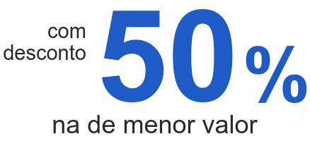 comdesconto50 %na de menor valor