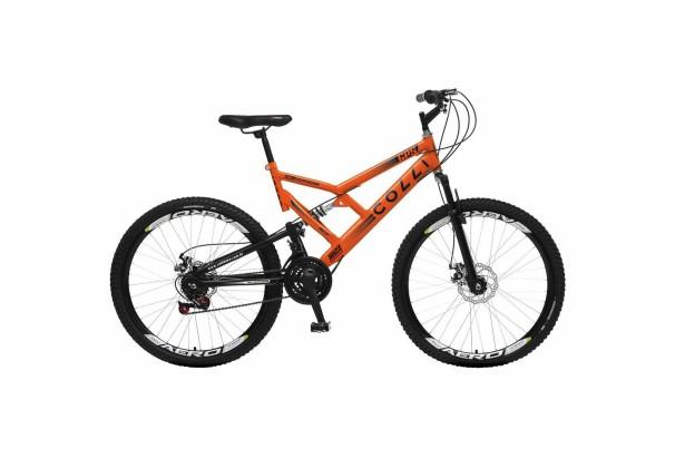 Bicicleta Colli Fulls GPS Freios  a Disco Aro 26
