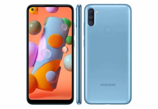 Smartphone Samsung Galaxy A11 64GB Azul 4G Tela 6.4 Pol.