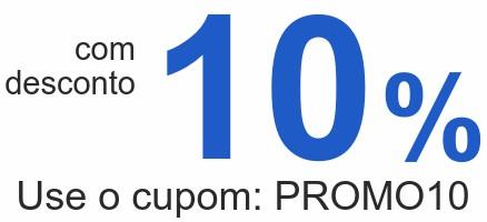 comdesconto10% Use o cupom: PROMO10