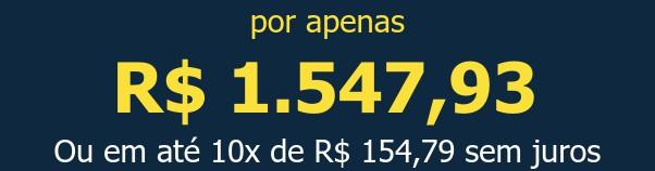 por apenas R$ 1.547,93Ou em até 10x de R$ 154,79 sem juros