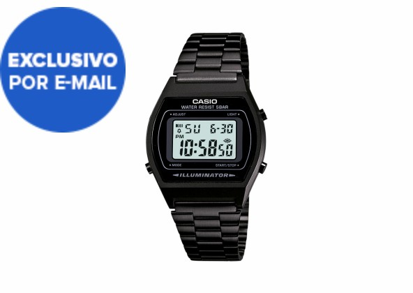 Relógio de Pulso Casio Vintage Unissex Preto Digital